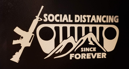 Social Distance Decal option 2