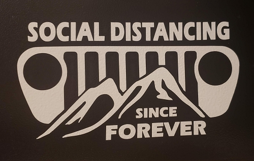 Social Distance Decal option 1