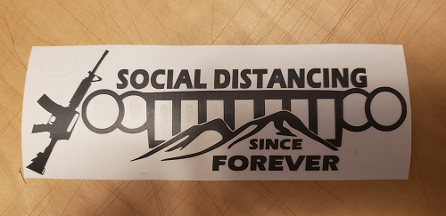 Social Distance Decal WK option 2