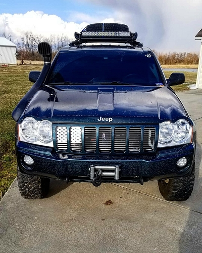 Straight American Flag Grill Insert WK Jeep Grand Cherokee (05-07)