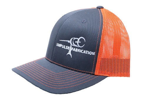 Charcoal & Orange Impulse Fab Trucker Style Hat