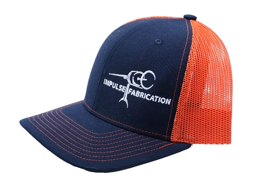 Navy & Orange Impulse Fab Trucker Style Hat