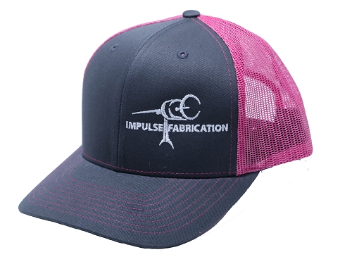 Charcoal & Pink Impulse Fab Trucker Style Hat